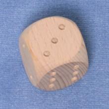 Würfel 4 cm Augen eingefräst
