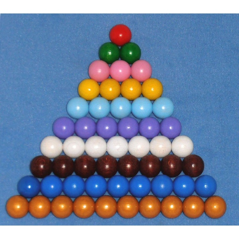 farbige Perlentreppe 20 mm Holzperlen
