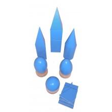 Geometrische Körper 7 cm Hellblau
