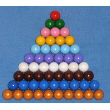 farbige Perlentreppe 15 mm Holzperlen