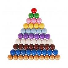 farbige Perlentreppe 8 mm Holzperlen