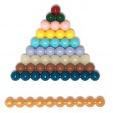farbige Perlentreppe 7 mm feste Kunststoffperlen