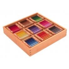 Farbtäfelchen Schattierungskasten mit Garn wie im Original