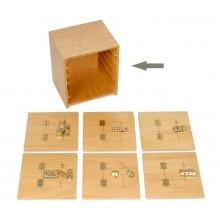 Kommode für Metallverschlussrahmen Sperrholz