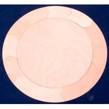 Holztäfelchen Kreis 12-Teiler