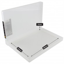 Transparente Kunststoff Box A4 flach