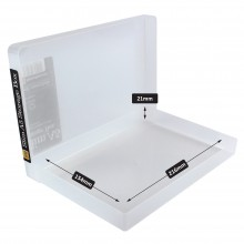 Transparente Kunststoff Box A5 flach