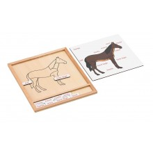 Colored animal puzzle activity set -horse