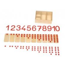 Zahlen mit Knöpfen und Platzhaltern + Chips in Box