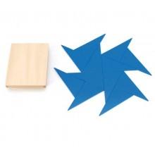 12 Blaue Dreiecke konstruktive