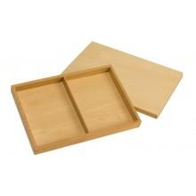Box mit 2 Faechern für Stoffe