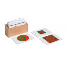 Kasten mit Aufgabenkarten für die eingeschriebenen und konzentrischen Figuren