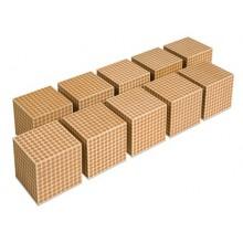 Holzkubus, per 10 Stück