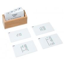 Kasten mit Aufgabenkarten für das Punktspiel