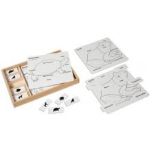 Kontrollkarten für die Tierpuzzles
