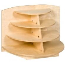 Eckschrank, zapfenförmig (69 cm)