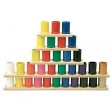 Leiste mit 4 farbigen Stiftköchern