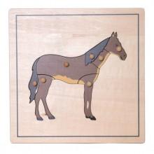 Tierpuzzle Pferd